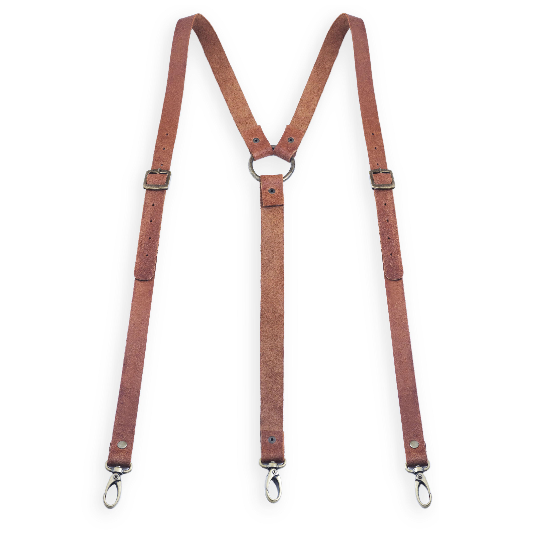 leather suspenders desert